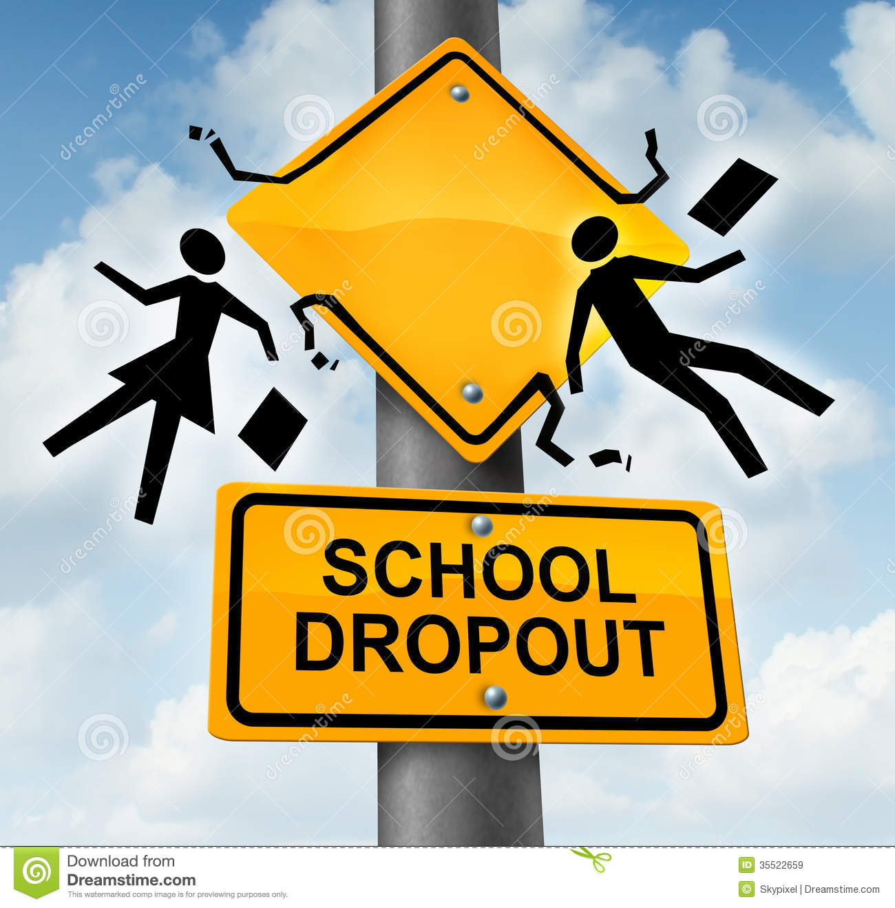 Clipart For Dropping Out Of School.