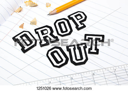 spelling out Dropout atop in school dropout clipart collection in.