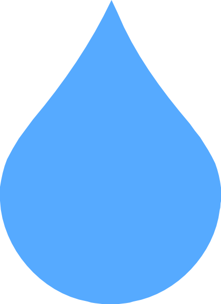 Light Blue Rain Drop Clip Art at Clker.com.
