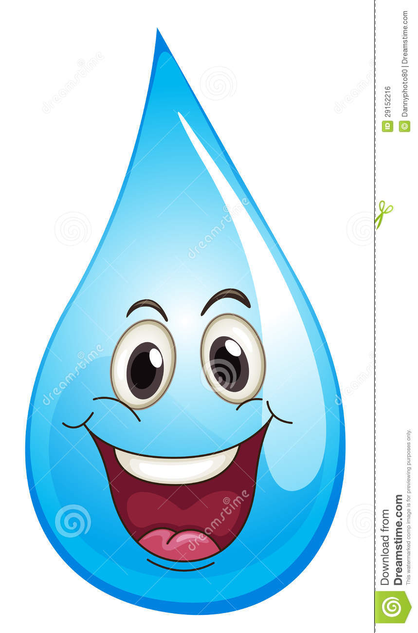 Drop of water clipart.