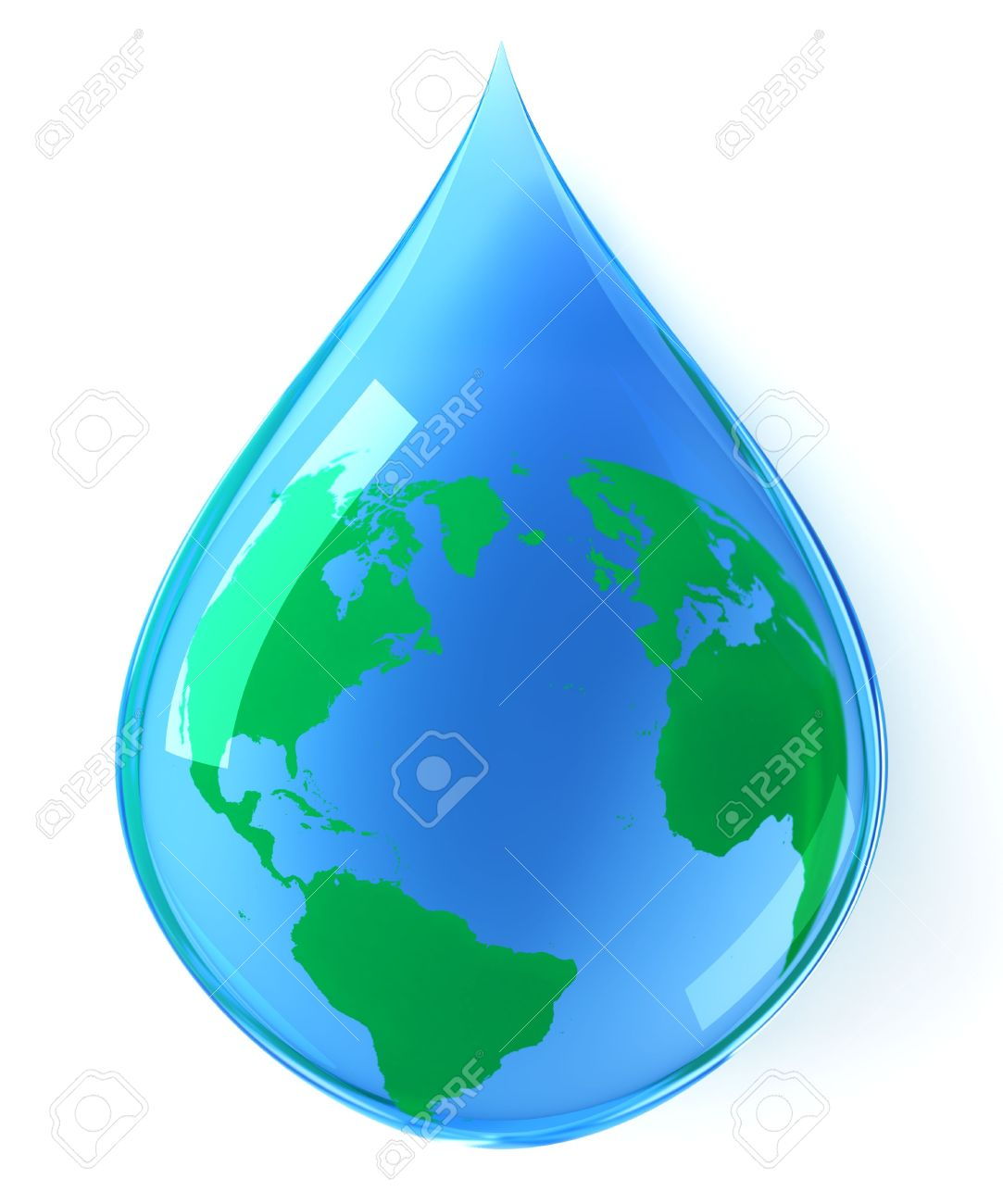 Earth Water Drop Stock Photo, Picture And Royalty Free Image.