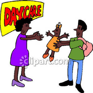Clipart Picture of an African American Man Dropping His Daughter.