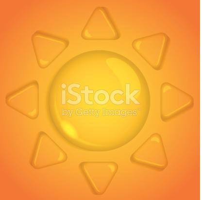 Sun Of Water Drop stock vector art 180093972.