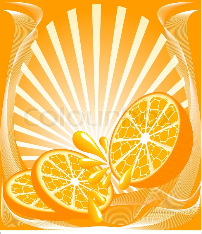 Vector illustration of a beautiful orange background with the.
