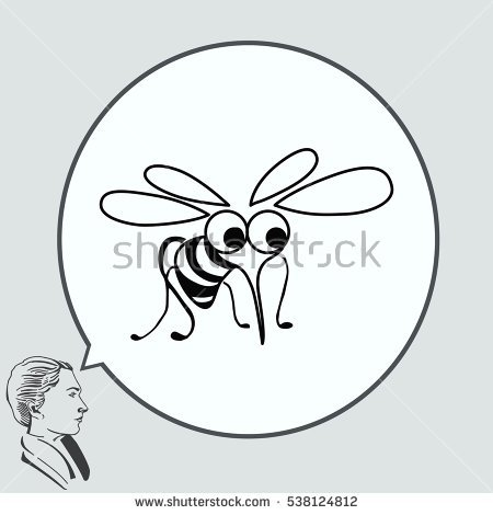 Mosquito Icon Leech Icon Wasp Icon Stock Vector 525372760.
