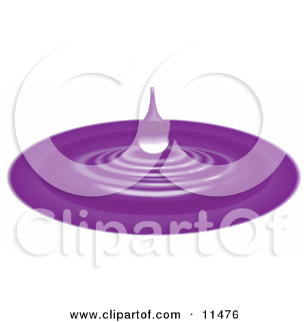 Clipart of a 3d Blue Water Drop Earth with Reflections.