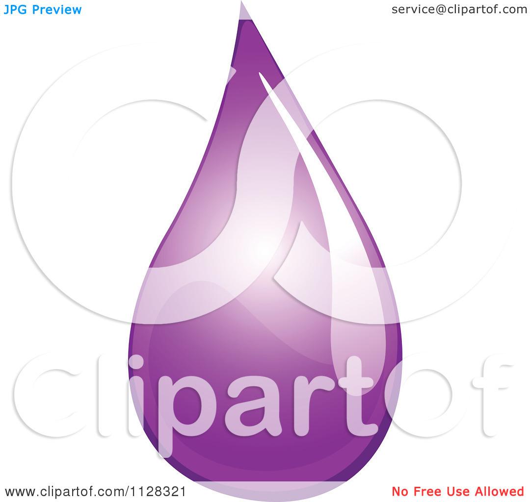 Cartoon Of A Purple Water Droplet.