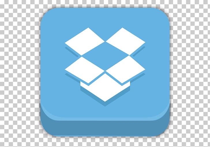 Blue square angle brand, Dropbox, Dropbox icon with blue.
