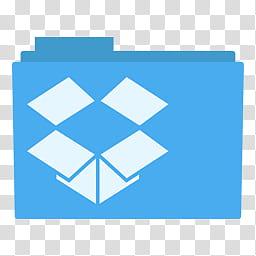 Simply Styled Icon Set Icons FREE , Dropbox Folder alt, blue.