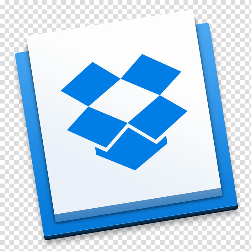 Dropbox Icons for OS X Yosemite, blue box icon transparent.