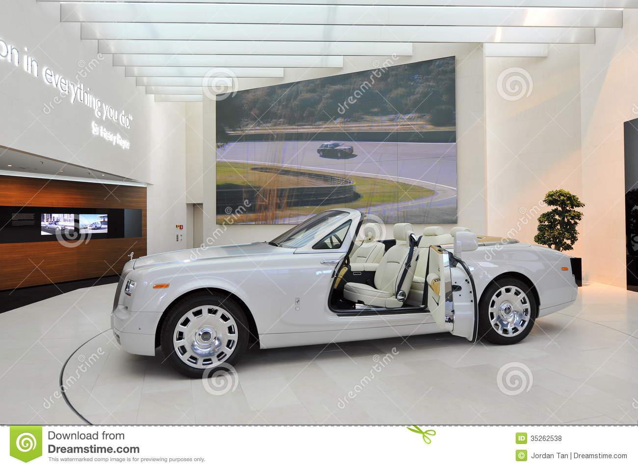 Rolls Royce Phantom Drophead Coupe On Display In BMW Welt.
