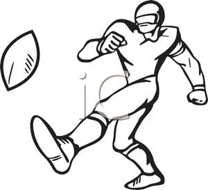 American Football Kick Clipart.