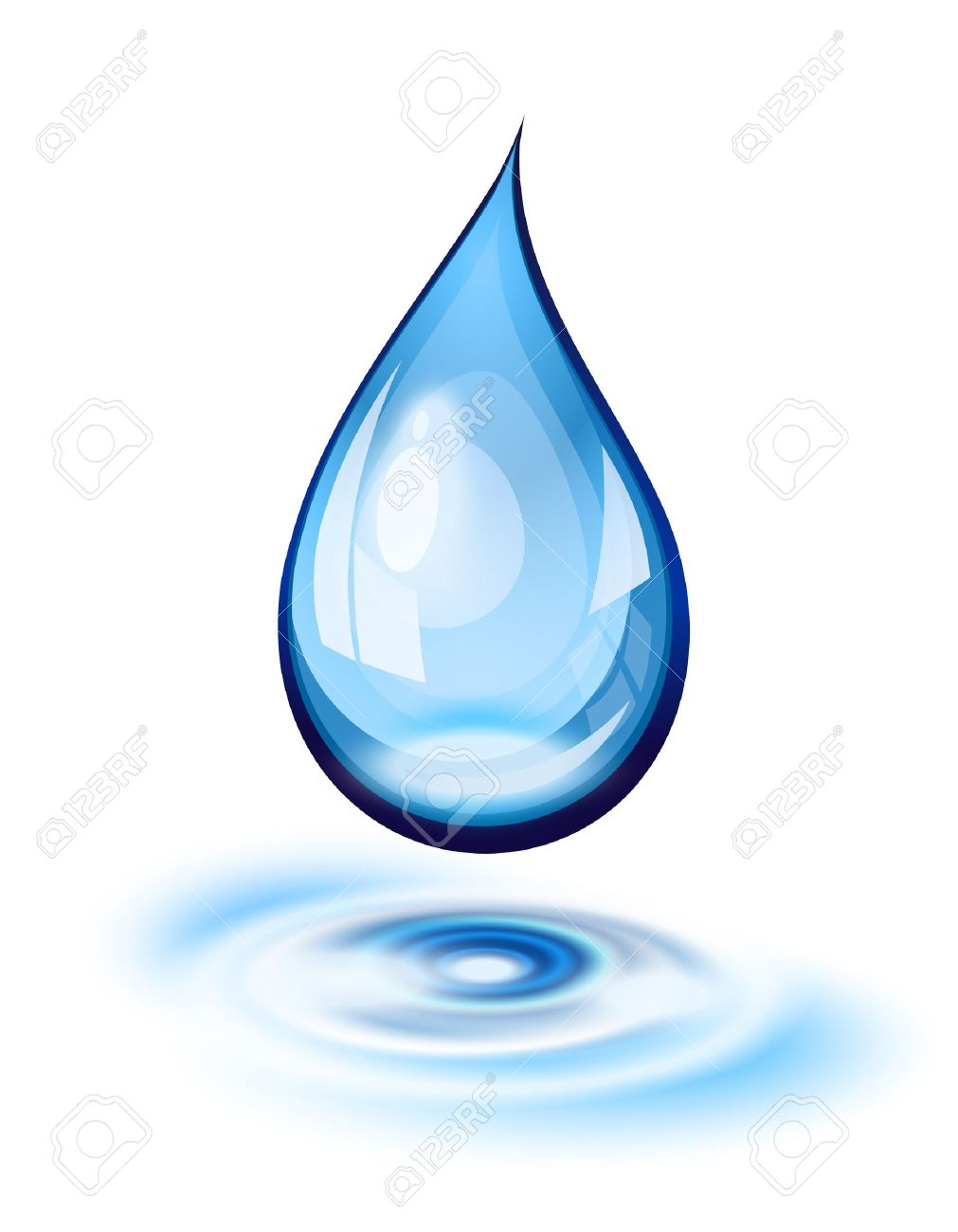 Water Drop And Ripples Icon Royalty Free Cliparts, Vectors, And.