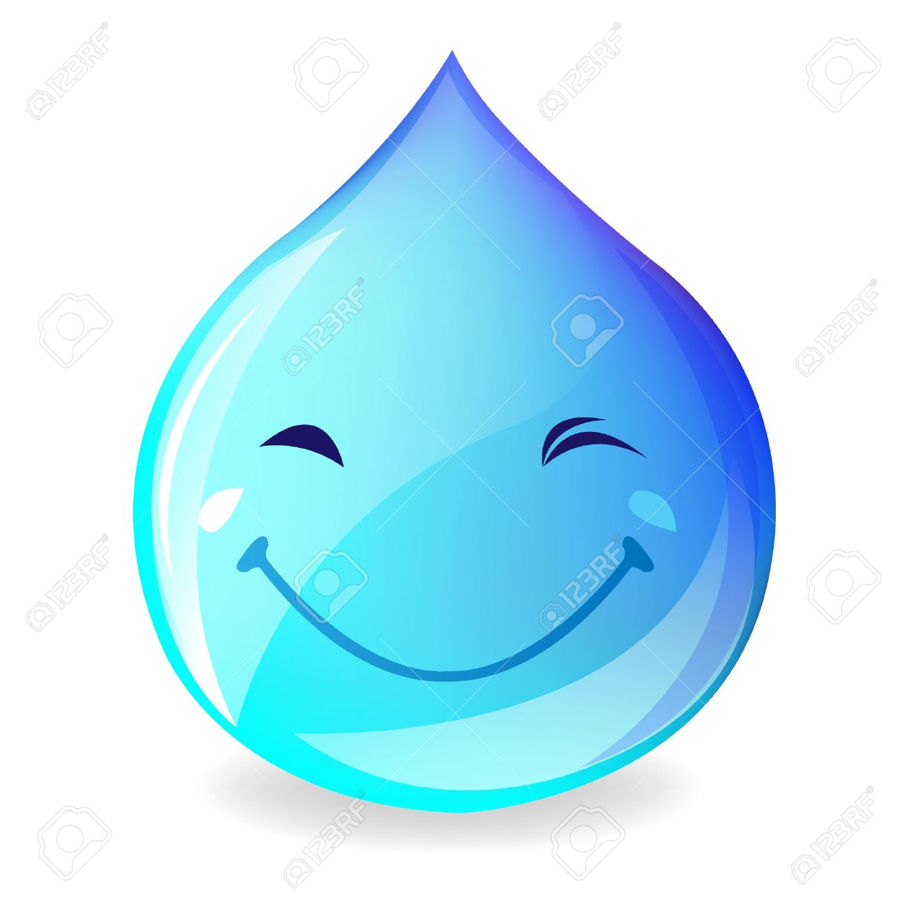 Water droplet with girl face clipart.