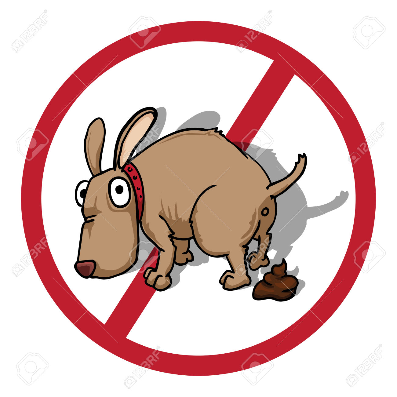 No dog poop clipart.