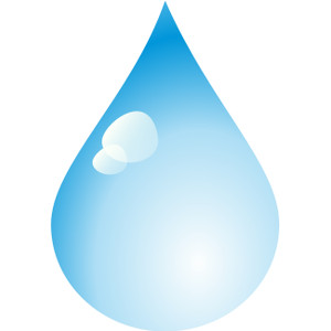 Rain water drops clipart.
