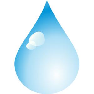 Rain water drops clipart.
