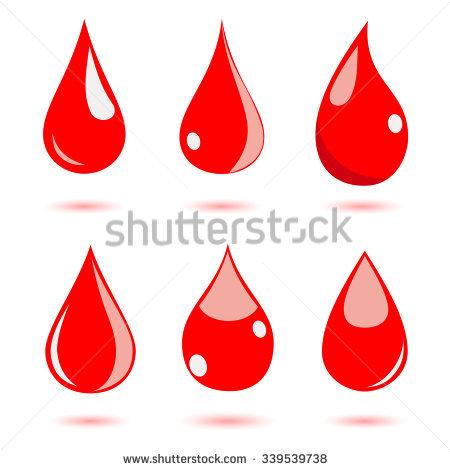 Red Liquid Drops Icon Emblem Vector Stock Vector 129151478.
