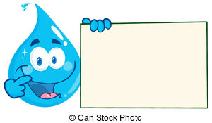 Drops of water clipart.