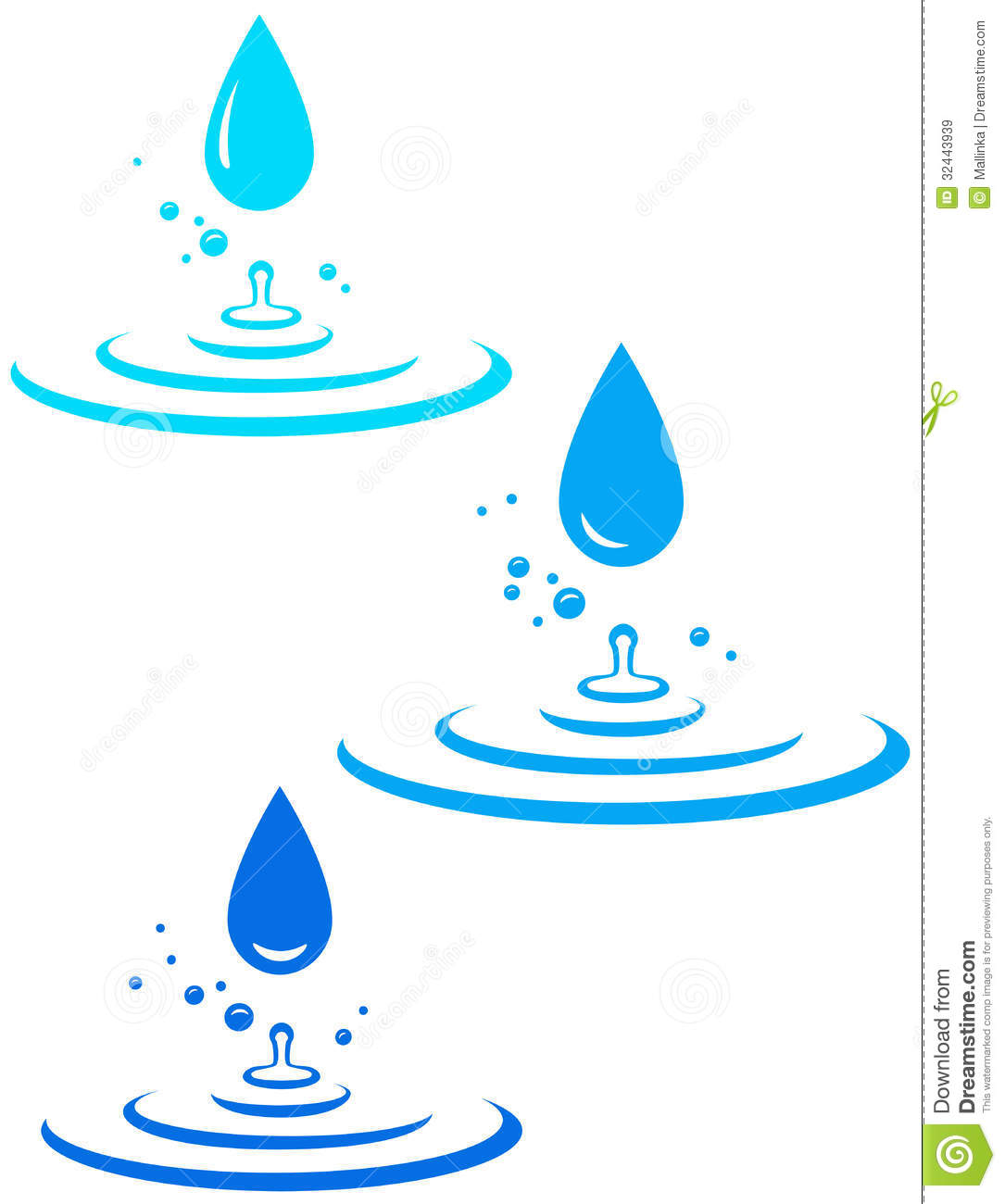 Water drops clipart.
