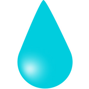 Water droplet clip art.