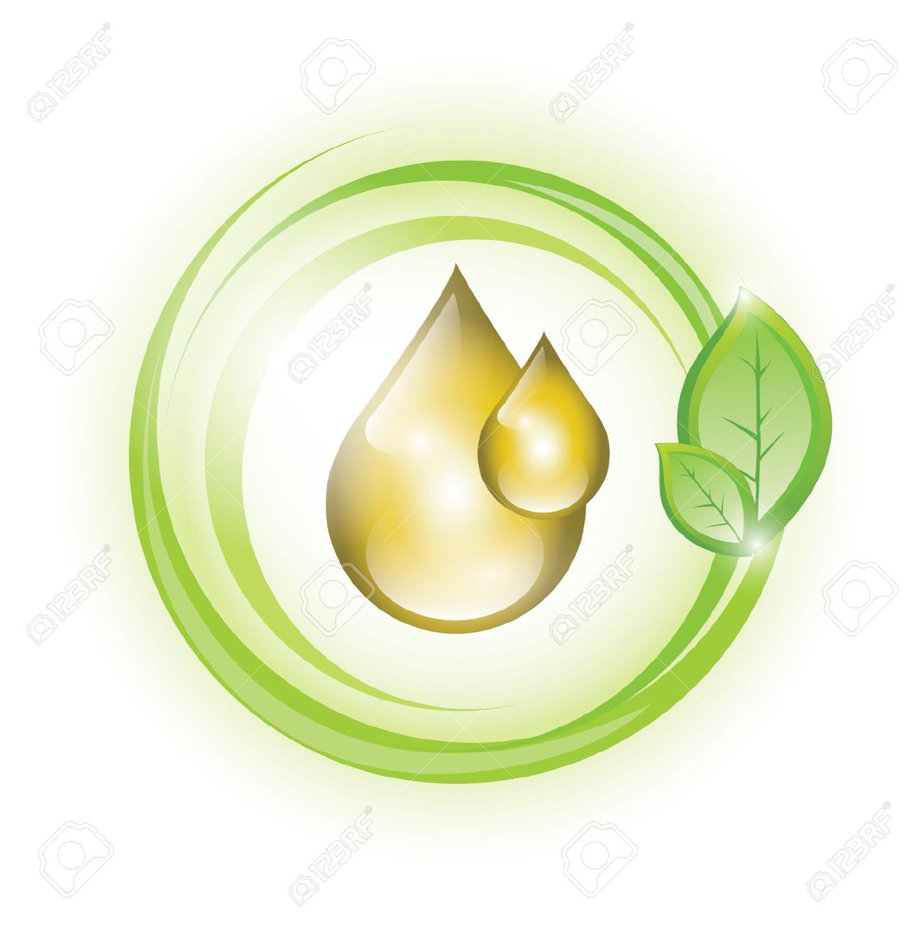 Eco Oil Drops With Plant Royalty Free Cliparts, Vectors, And Stock.