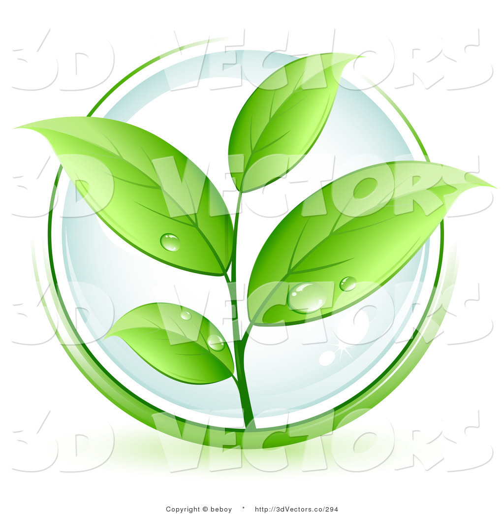 Green Plant Leaves Clipart.