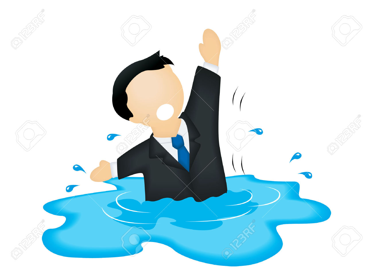 Free clipart drowning man.