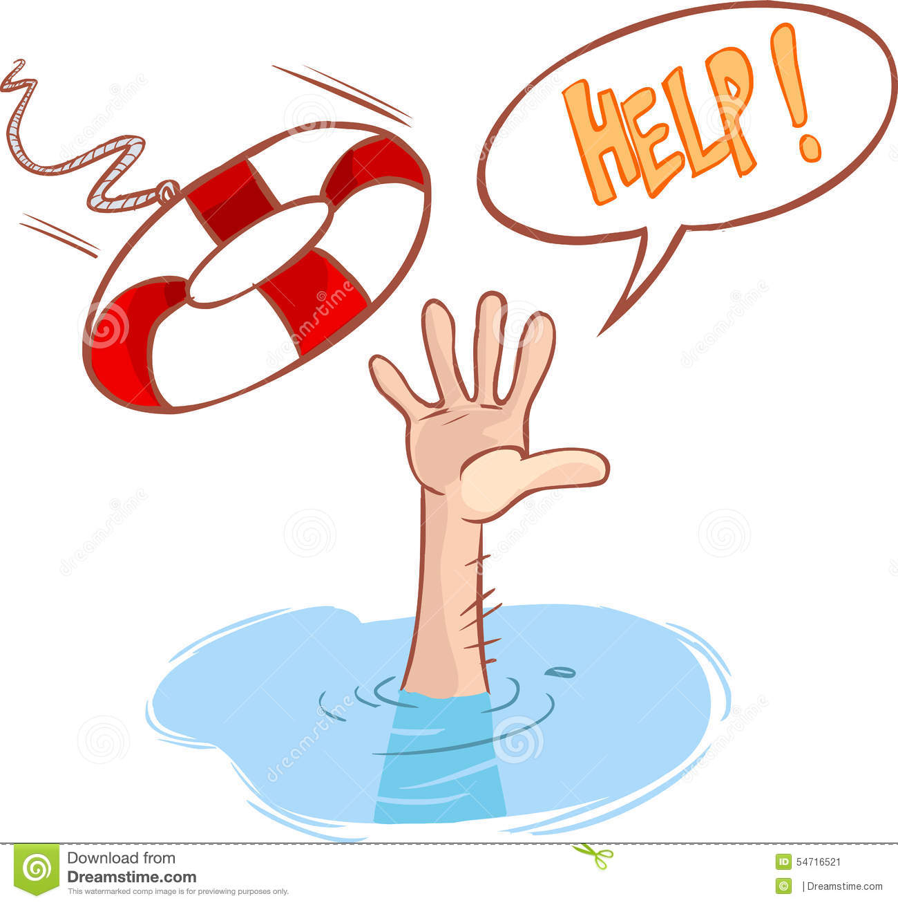 First aid for drowning clipart.