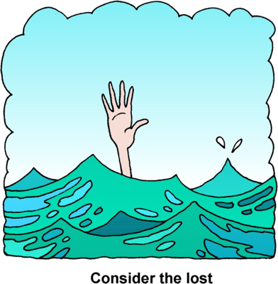 Drowning Clipart.