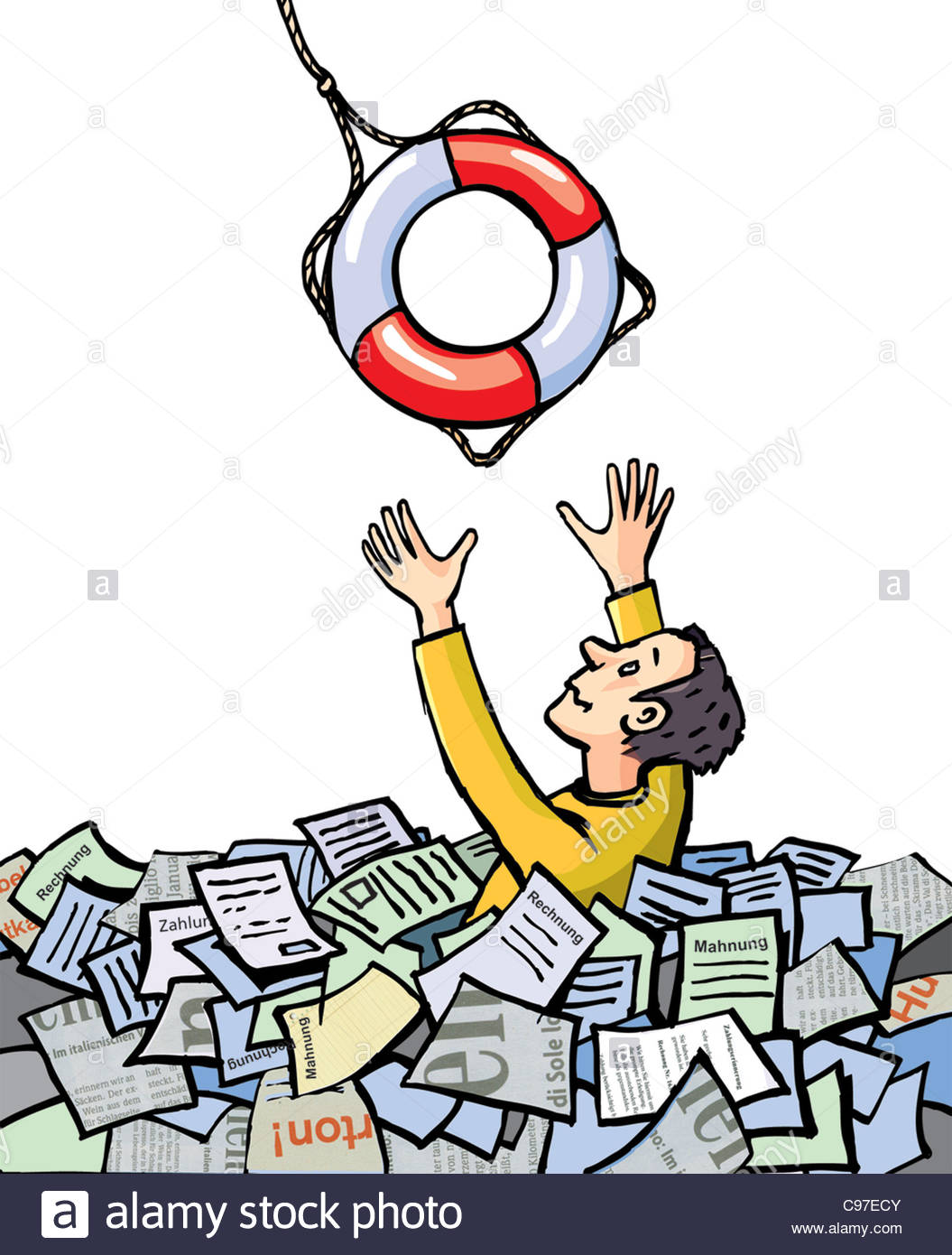 Drowning In Paperwork Clipart & Free Clip Art Images #19937.