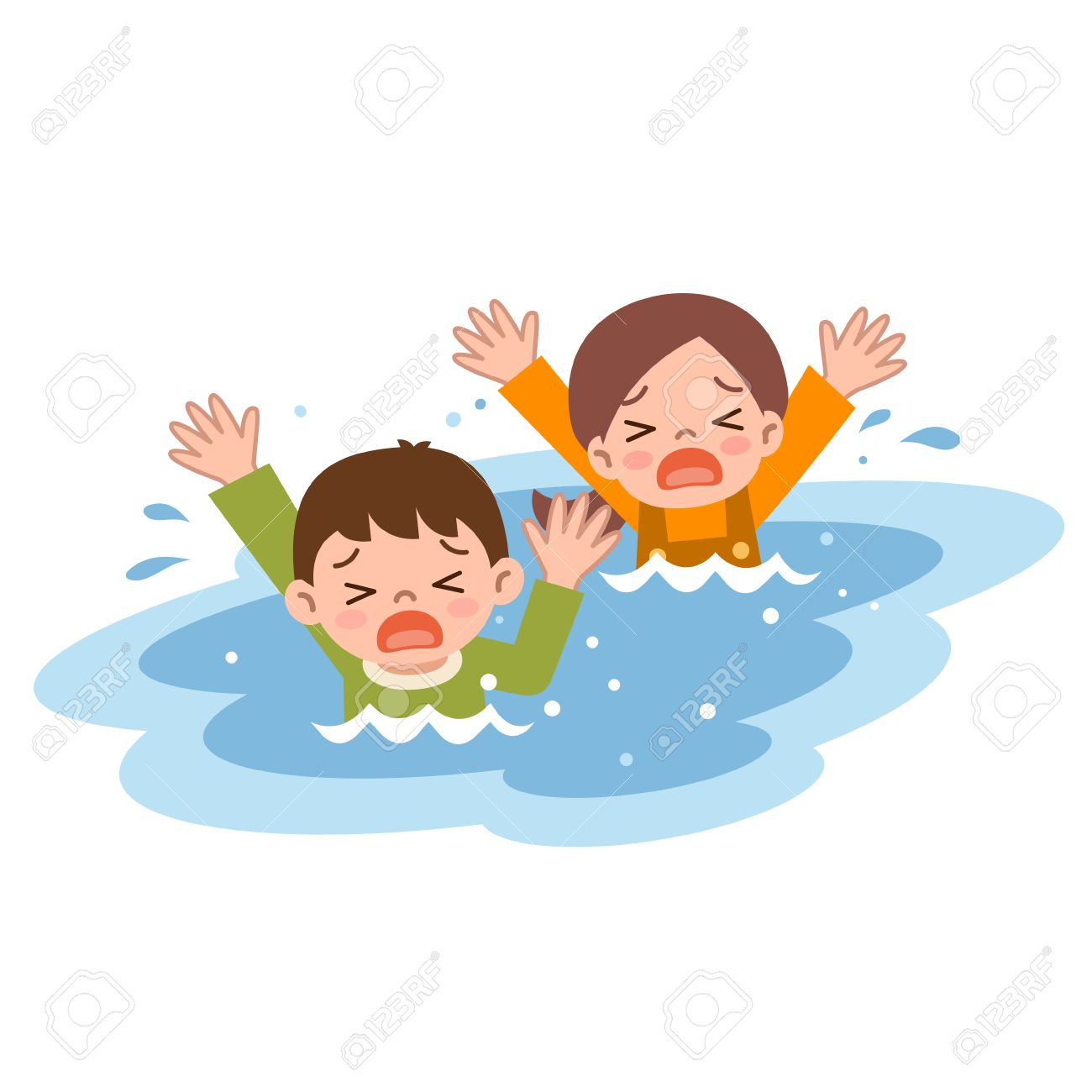 Drowned Little People Clipart & Free Clip Art Images #27042.