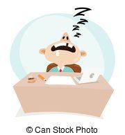 Stock Illustrations of sleep at work illustration.