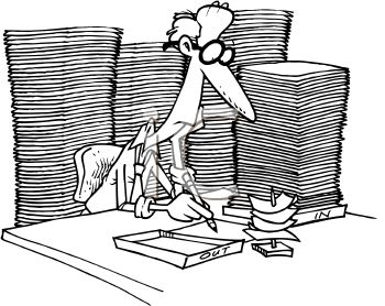 Overworked Worker or Employee with a Full Inbox.