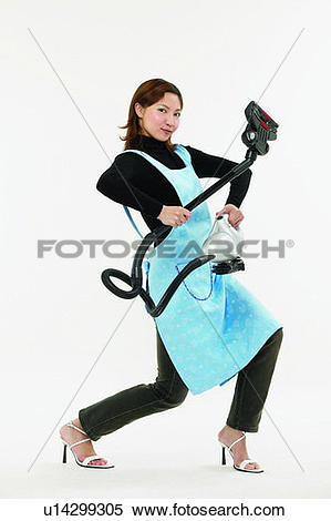 Stock Image of Cut Out, Jeans, White Background, Cleaning, One.
