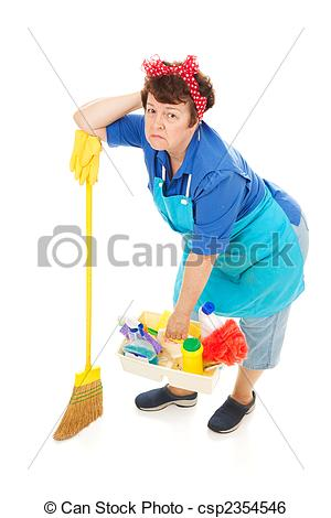 Stock Image of Housework is Drudgery.
