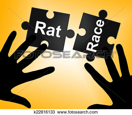 Drawing of Rat Race Means Lifestyle Worked And Drudgery k22816133.