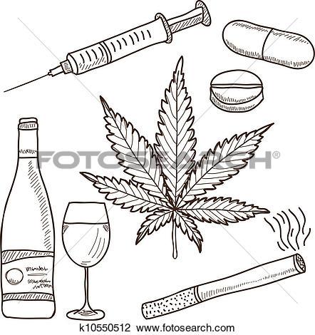 Clip Art of Different kind of drug icons k9368389.
