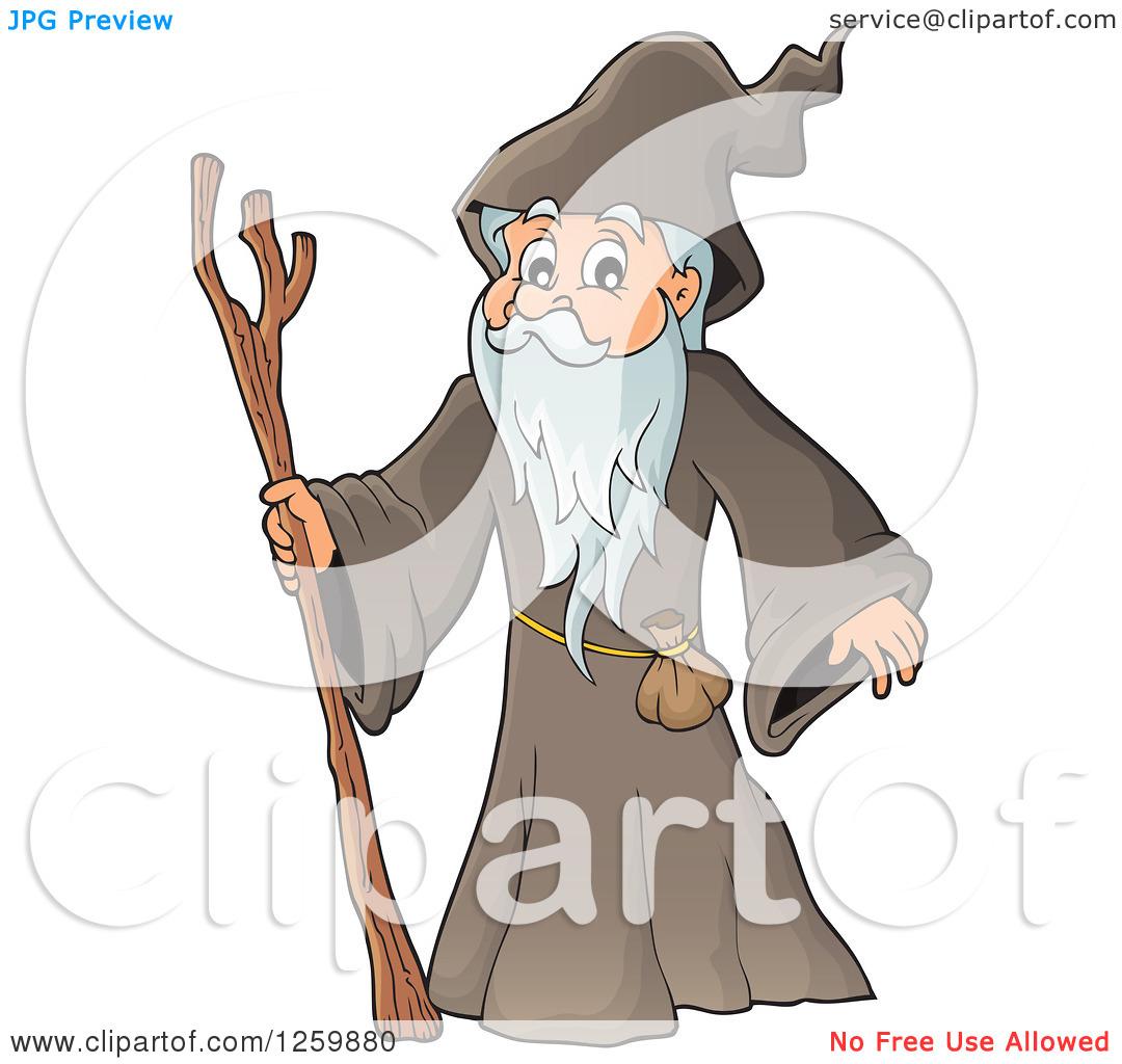 Clipart of a Senior Druid Man.