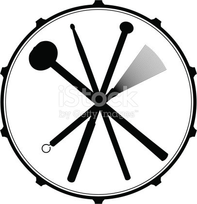 Drum Head Emblem stock vector art 165810652.