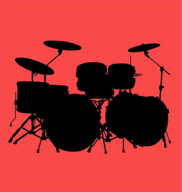Drum Kit Vector. clip arts, free clipart.