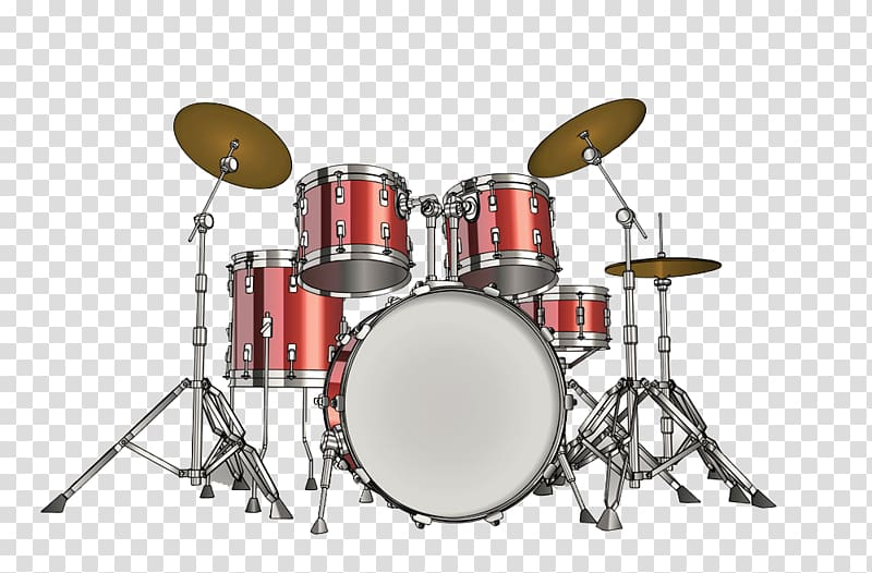 Red drum set , Drums Musical instrument Drummer, Drums transparent.