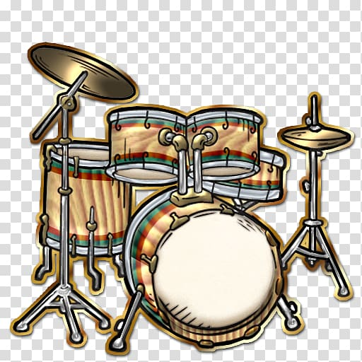 Drums Cartoon , Drums Set transparent background PNG clipart.