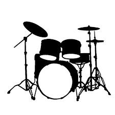 drum kit silhouette.