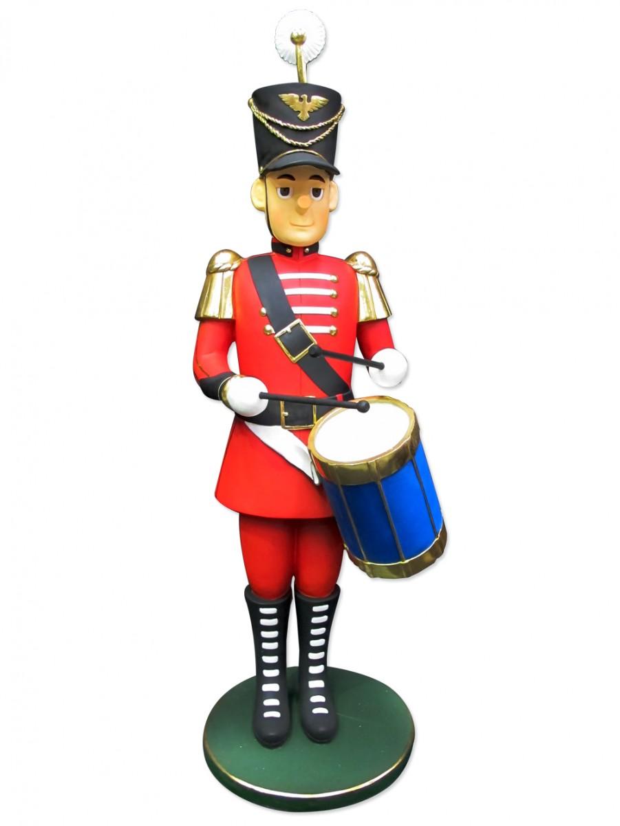 Traditional Resin Drummer Boy Decor.