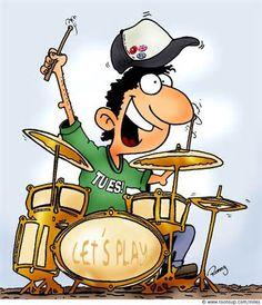 cartoon drummers.