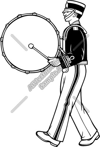 Marching Band Drummer Clipart and Vectorart: Sports.