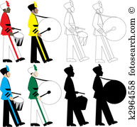 Drummers Clipart and Illustration. 1,918 drummers clip art vector.