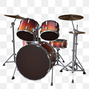 Drum Set Png, Vector, PSD, and Clipart With Transparent Background.