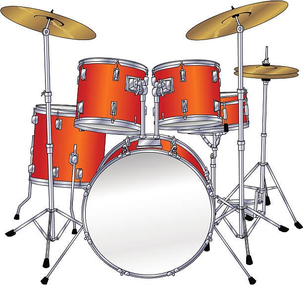 Best Drum Set Illustrations, Royalty.